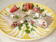 Plated Veggie Wrap Colorful