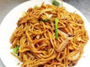 Chinese Stir Fried Vegetable Lo Mein Noodles
