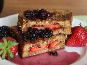 Pbj French Toast With Berry Syrup