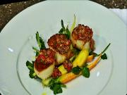 Seared Sea Scallops With Rhubarb Mostarda