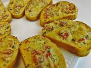 Sun Dried Tomato And Cheese Crostini