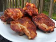Honey Brined Smoked Chicken Thighs Easy Chicken Thigh Recipe On The Mini Wsm