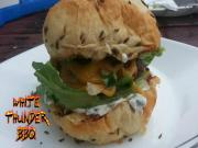 Blue And Cheddar Burger Recipe How To Grill A Blue Cheese And Cheddar Burger