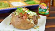 Crock Pot Recipe Shredded Beef Cheese Baked Potato Feat Pace Salsa Walmart 1017355 By Cookingwithcarolyn