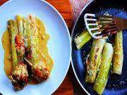 Chicken With Creamy Braised Leeks Stevescooking