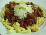 Meat Sauce Over Pasta