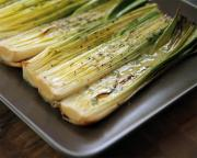 Roasted Leeks In Dijon Vinaigrette