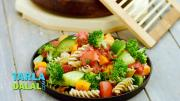 Pasta And Vegetable Salad Zero Oil Healthy Salad 1018293 By Tarladalal