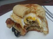 Cheese And Sausage Breakfast Sandwich Easy To Make Sandwich On The Euro Q
