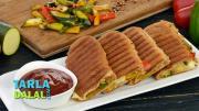 Zucchini And Bell Pepper Sandwich