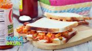 Schezwan Paneer Cold Sandwich 1018297 By Tarladalal