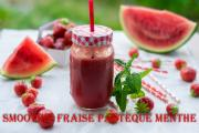 Smoothie Fraise Pastque Menthe 1017756 By Cuisinedefadila