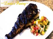 Grilled Trout On The Big Green Egg With Mango Salsa