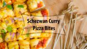 Schezwan Pizza Bites Mini Pizza Recipe In Tawa Eggless Baking Without Oven 1015947 By Cookingshooking