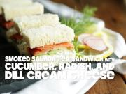 Smoked Salmon Tea Sandwich