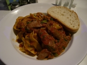 Pappardelle with Lamb's Liver and Bacon