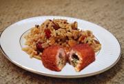 Savory Chicken Kiev With Pecan Wild Rice