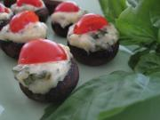 Stuffed Asiago and Basil Mushrooms