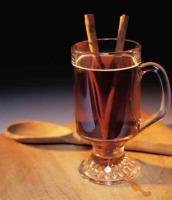 Hot spiced wine completely ready to be served