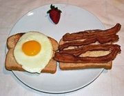Bacon is a classic breakfast accompaniment