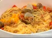 Angel Hair Pasta with Clam and Chorizo