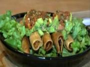 Part 2: Crispy Chicken Taquitos with Guacamole and Oven Roasted Salsa