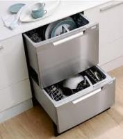 Double drawer Fisher Paykel dishwashers.