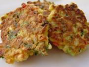 Corn fritters with chicken