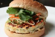 Spicy Thai Style Chicken Satay Burger