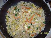 Vegetable and egg fried rice