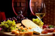 Cheese and wine combination