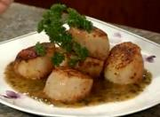 Sea Scallops with Cilantro Butter Sauce