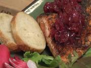 Cherry Salsa and Salmon with Cherry Sauce