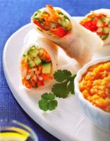 Garden Spring Rolls and Dipping Sauce