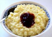 Rice Pudding Mould With Cranberry Rum Sauce