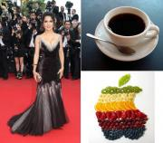 Salma Hayek's diet is fruits and coffee.