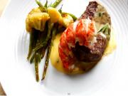 Filet Mignon and Lobster Tail with Bearnaise Sauce (Valentine's recipe)