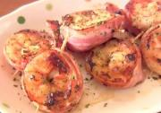 Pan Fried Bacon Wrapped Shrimp