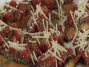 Tomato Basil Bruschetta With Cocobon Wine