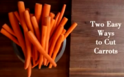 Carrot cutting techniques