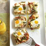 Ham-Asparagus-and-Cheese Strata - perfect brunch recipe idea for special days.