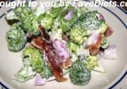 Weight Watcher's Broccoli Bacon Salad
