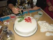 Painting on the cake!
