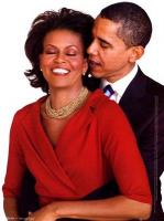 Michelle and Barack, very much in love