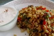 Curried Yellow Rice & Refreshing Leftover Khichadi & Kadhi
