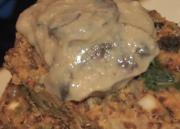 Quinoa Loaf in a Gravy of White Wine and Mushrooms