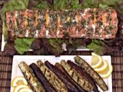 Grilled Salmon Fillet on the Island Grillstone