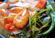 Sour Salmona and Shrimp Soup