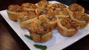 Mushroom Olive and Herb Tart