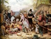 The First Thanksgiving scene.